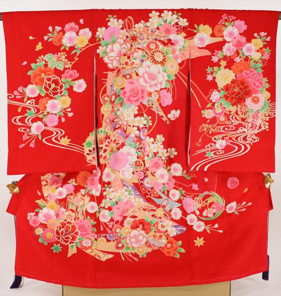 [送料込み]女の子お宮参り着物 sagu01 赤