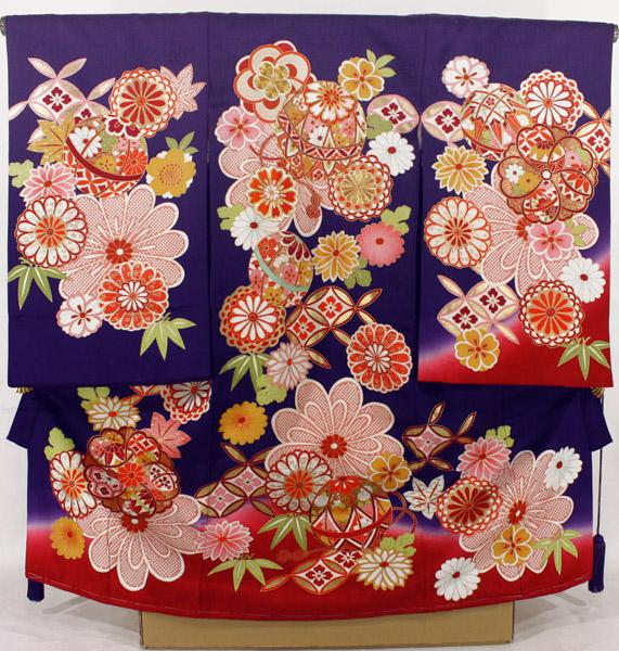 [送料込み]女の子お宮参り着物 ysga05 紫
