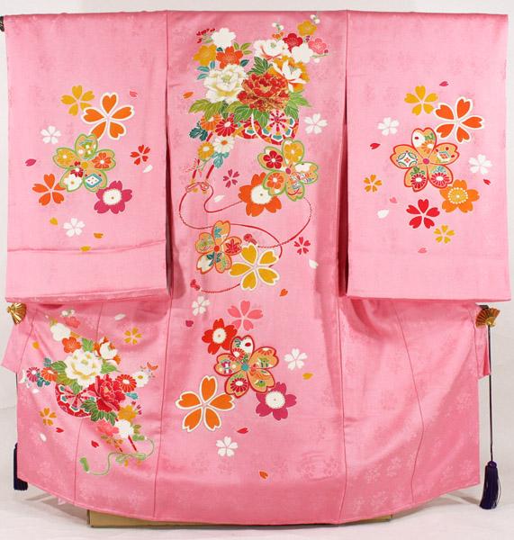 [送料込み]女の子お宮参り着物 tega02 ピンク