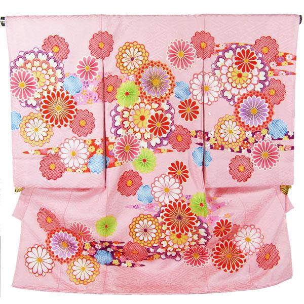 女の子お宮参り着物 mang02 ピンク