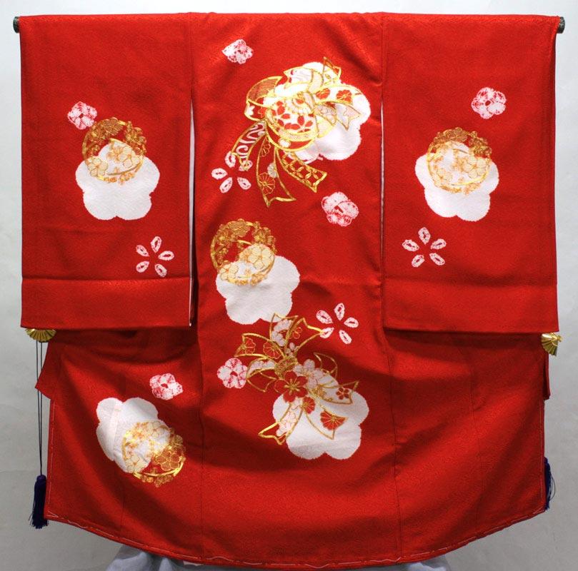 お宮参り着物 初着 マーケティング 産着 のしめ 赤 pan02 低廉 女の子お宮参り着物 送料込み