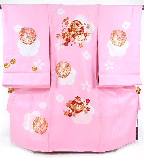[送料込み]女の子お宮参り着物 pan05 ピンク