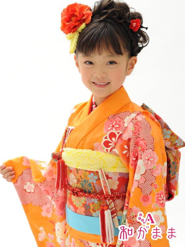 七五三女の子7歳着物20点セット合繊和がままi701