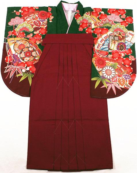 袴2点セットneh17 [送料込み]二尺袖絵羽着物