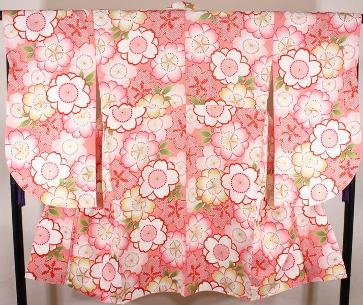 [送料込み]二尺袖着物 単品 nkt02ピンク