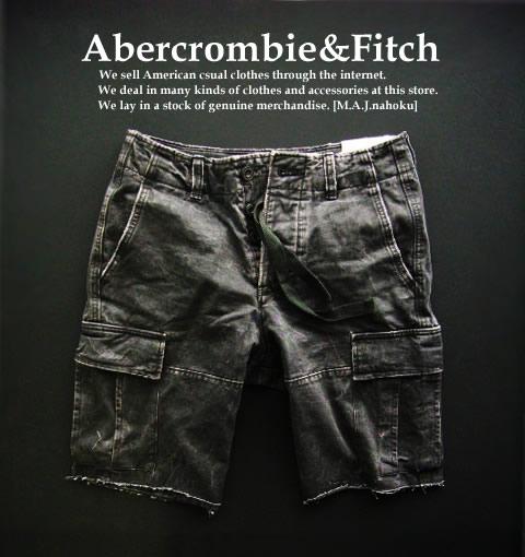 4788 9新品 アバクロンビー フィッチ Abercrombie Fitch ヴィンテージカーゴ短パン2503 グレー MENSN0P8wOkXZn
