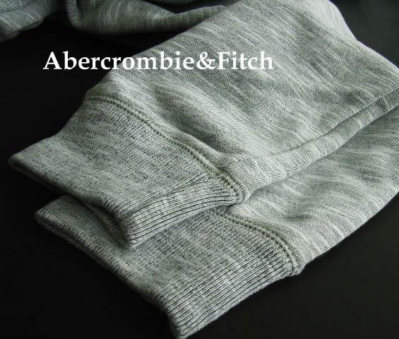 4808 9新品 アバクロンビー フィッチ Abercrombie Fitch A Fロゴトレパン2701 グレー MENSOZlPkuTwiX