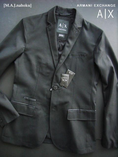 8241-3新品★アルマーニエクスチェンジ ARMANI EXCHANGE★デザインジャケット2912★黒★MENS★
