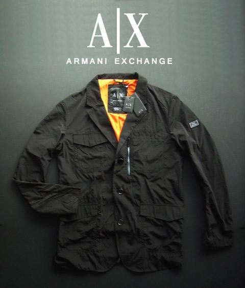 6724-6新品★アルマーニエクスチェンジ ARMANI EXCHANGE★デザインジャケット2502★黒★MENS★