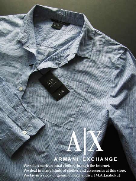wholesale dealer 600de 79cb1 アルマーニエクスチェンジ) メンズカジュアルシャツ ブラック ...