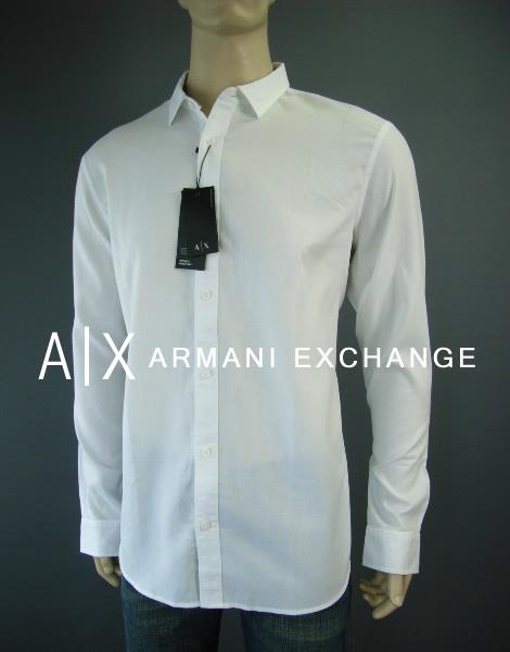 7432-50新品★アルマーニエクスチェンジ ARMANI EXCHANGE★デザインシャツ2706★白★MENS★