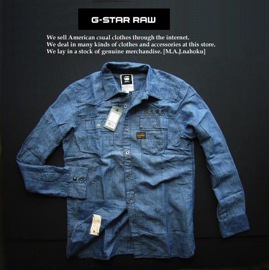 4315新品★ジースター G-STAR RAW★デザイン麻リネンシャツ2326★紺系★L★MENS★