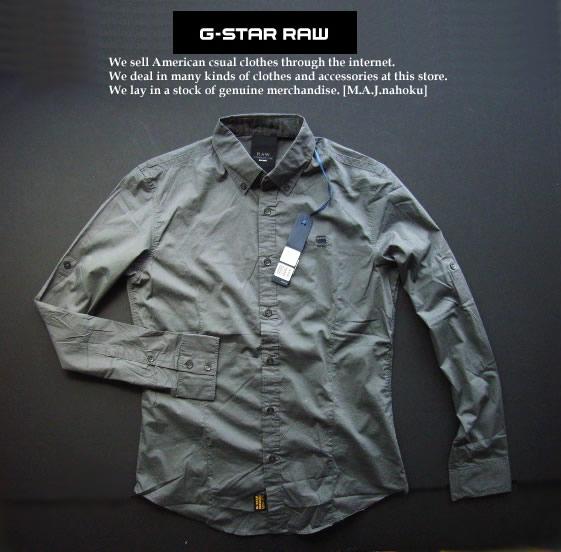 4319-23新品★ジースター G-STAR RAW★デザインシャツ2330★グレー★MENS★