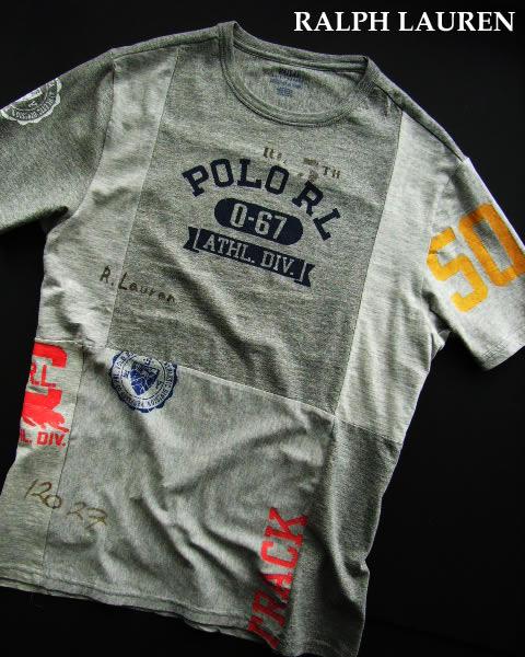 3589新品★ラルフローレン RALPH LAUREN★ロゴTシャツ2911 限定品★グレー★MENS:S/M相当★