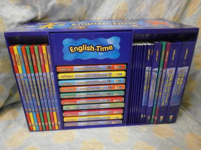 e924 新着 イングリッシュタイム 【中古】 English Time コアパック・発音練習キット 幼児英語教材