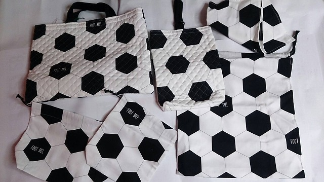 サッカー1セット限り オリジナル 手作り 入園バック6点セット【送料無料】