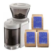 ☆Set of ビタントニオコーヒーグラインダー and three kinds of coffee beans