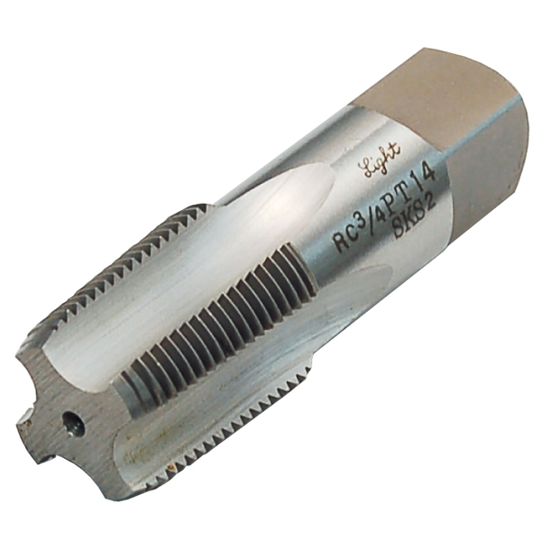 パイプタップ PT テーパー 2×11 配管用ハンドタップ 水道ガス管タップ パイプねじ加工修正