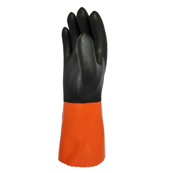 まとめ買い!10セット ソフトボアツートン LLサイズ 5双 一重防寒手袋 作業用グローブ ポリ塩化ビニール手袋