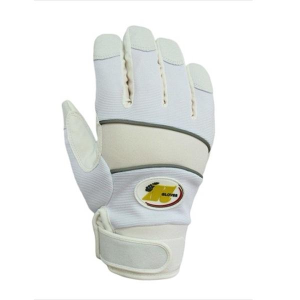 まとめ買い!10セット 防水防寒手袋 LLサイズ(ホワイト) 5双 縫製防寒手袋 作業用グローブ 合成皮革手袋