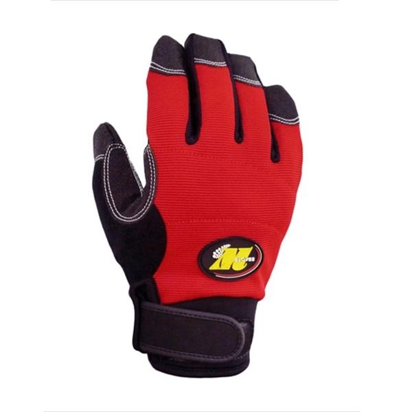 まとめ買い!2セット 防水防寒手袋 Mサイズ(レッド) 5双セット 縫製防寒手袋 作業用グローブ 合成皮革手袋