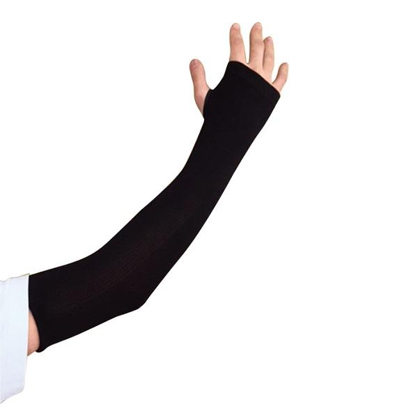 まとめ買い!10セット 竹糸くん女性用アームカバーエアリー ブラック 10双 UVカット腕カバー 紫外線カット手袋 日焼け防止腕カバー