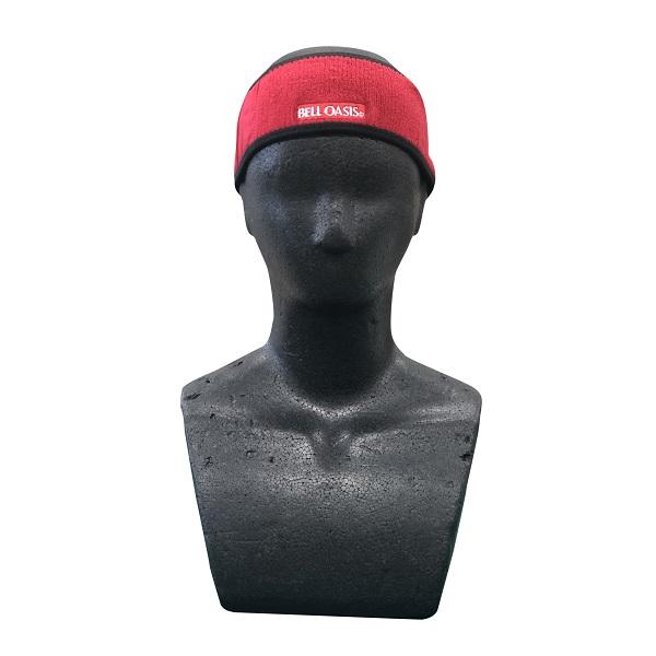 まとめ買い!10セット パワフルヘアーバンド 赤 10個 メンズヘアバンド スポーツヘアバンド 冷感ヘアバンド