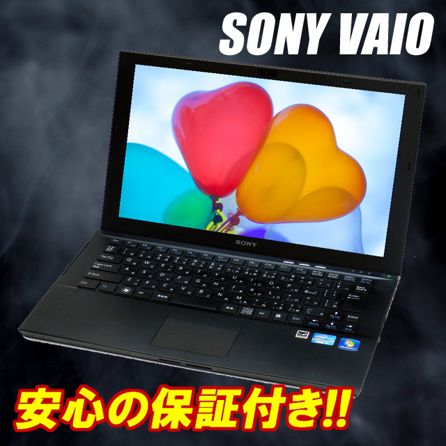 Used laptop computers SONY VAIO SVZ 1311 AJ 13.1-(1600 × 900) MEM:8 GB SSD:128 GB (64GB×2) Corei7 2.1 GHz Bluetooth, WEB camera, wireless LAN built-in KingSoft Office free up Windows 7 Professional installed