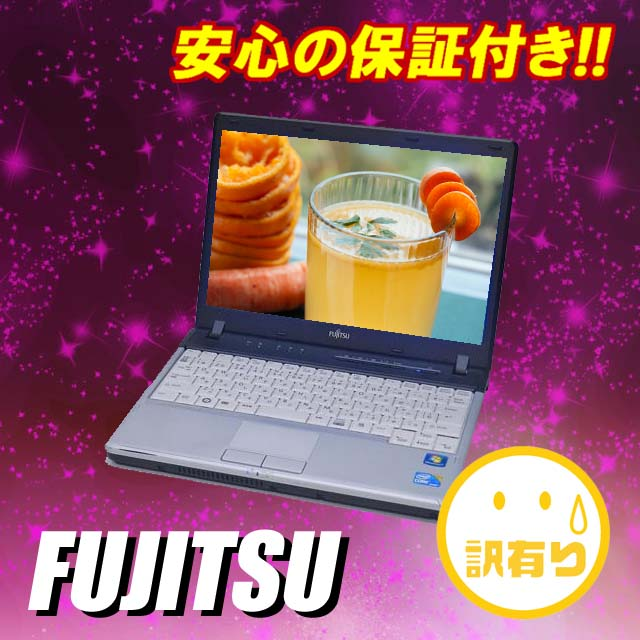 Secondhand notebook PC Fujitsu LIFEBOOK P770/B 12.1 inch LCD Windows 7 powered laptop Core i5 1.33 GHz MEM:2 GB HDD:160 GB wireless LAN built-in KingSoft Office Japan language version installed