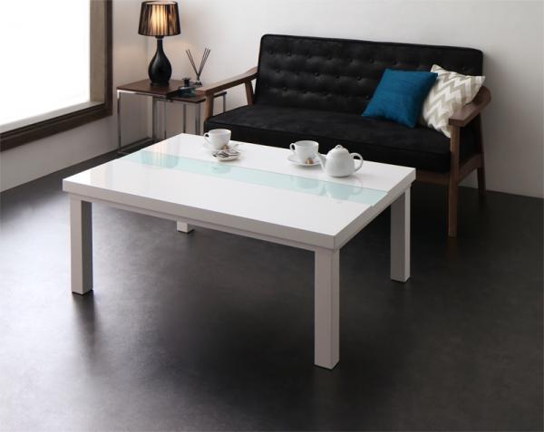 【送料無料】こたつテーブル モノトーン スタイリッシュモダンデザイン 「 UNO FK (ウノ エフケー)」テーブル単品 75x105cm 長方形 *布団は別売 オールシーズン 鏡面仕上げ シンプル おしゃれ