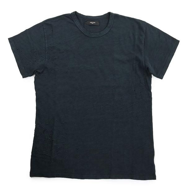 AMIRI アミリ MST10 SG1201BLK SHOTGUN VINTAGE TEE 半袖 Tシャツ クルーネック 丸首 カットソー ダメージ クラッシュ加工 カラーBLACK/ブラック メンズ