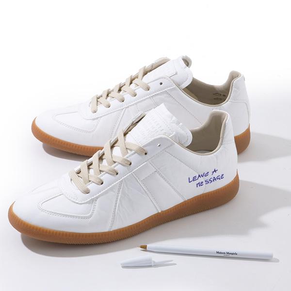 Maison Margiela 22 メゾンマルジェラ S57WS0153 S47960 Replica low Sneaker ペーパーエフェクト レプリカ スニーカー ペン付き カラー961