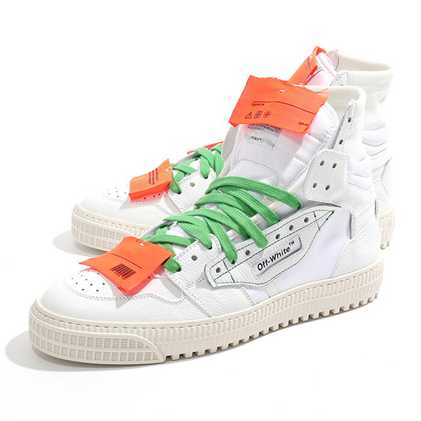 OFF-WHITE オフホワイト OMIA065E18A42001 0100 LOW 3.0 レザー ハイカット スニーカー デザインシューズ クリアバッグ付き カラーWHITE メンズ