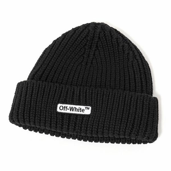 OFF-WHITE オフホワイト OMLC001E18020001 1000 BEANIE ウール リブ ニット帽 ビーニー 帽子 カラーBLACK-NOCOLOR