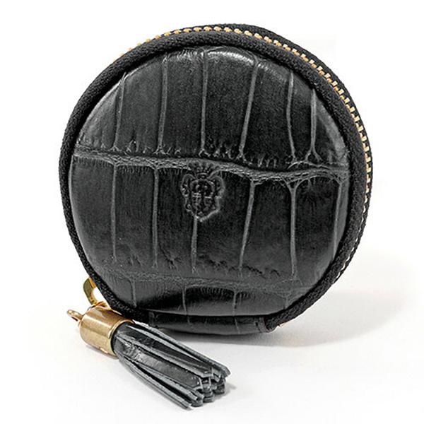 felisi フェリージ 895-SA クロコダイル型押し エンボスレザー コインケース 小銭入れ タッセル カラー003/NERO-BLACK ユニセックス メンズ