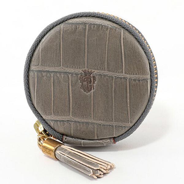 felisi フェリージ 895-SA クロコダイル型押し エンボスレザー コインケース 小銭入れ タッセル カラー024/GRIGIO-GREY ユニセックス
