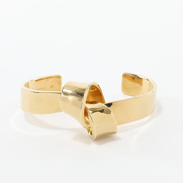 CELINE セリーヌ 46I606BRA.35RR Flat Bracelet Knot ノット フラット ブレスレット ブラス バングル カラーGold