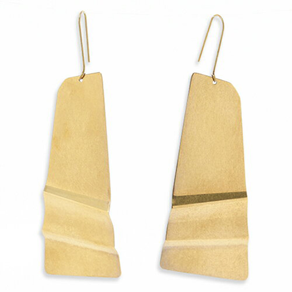 CELINE セリーヌ 46I626BRA.35RR Folded Earring スライドフォールデッド ピアス アクセサリー ブラス カラーGold