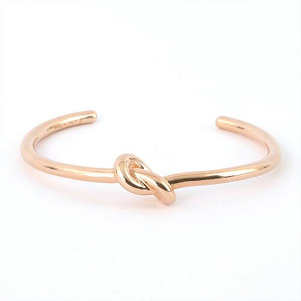 【サイズ限定特価】CELINE セリーヌ 46D46 6BRA 35RG S Knot Extra Thin Bracelet ノット エクストラシンブレスレット ブラス ブレス バングル カラーRosegold レディース