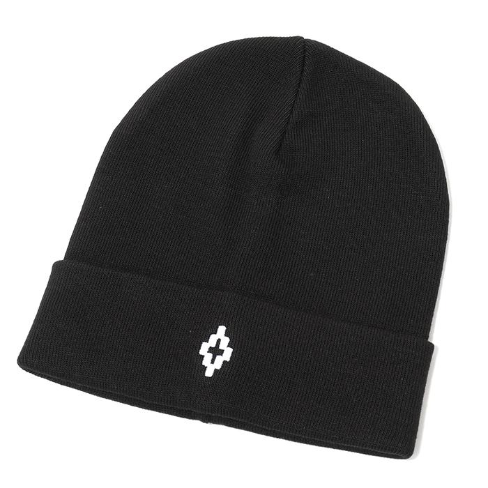 MARCELO BURLON マルセロバーロン CMLC003E18860080 CROSS BEANIES ニットキャップ ニット帽 ビーニー 帽子 カラー1001/BLACK-WHITE