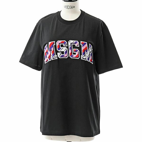 MSGM エムエスジーエム 2543 MDM67 オーバーサイズ 半袖 Tシャツ クルーネック ビッグシルエット カットソー カラー99/ブラック他 レディース