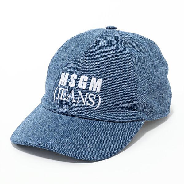 MSGM エムエスジーエム 2541 MDL03 ロゴ刺繍 デニム ベースボールキャップ 帽子 カラー88/インディゴブルー ユニセックス