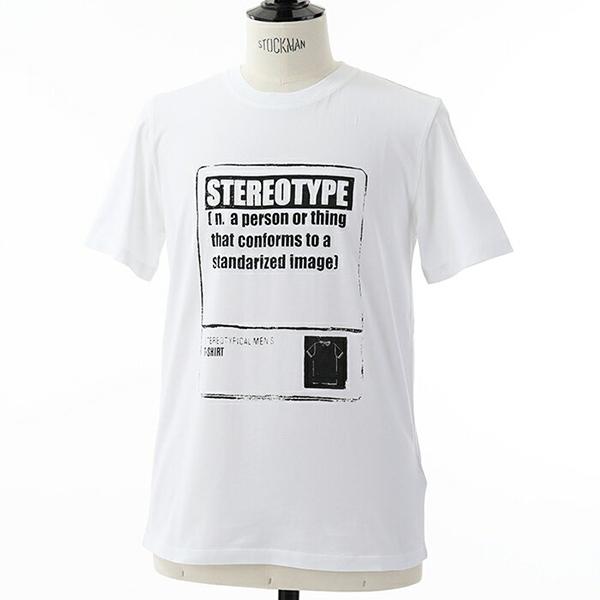 Maison Margiela メゾンマルジェラ 14 S50GC0515 S23182 STEREOTYPE 半袖 Tシャツ カットソー クルーネック 丸首 カラー100/ホワイト メンズ