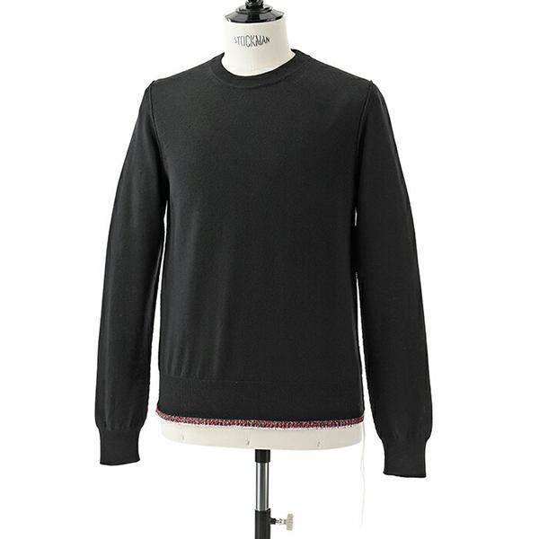 【11日限定!エントリーでポイント4倍対象】Maison Margiela メゾンマルジェラ 10 S50HA0827 S16401 ウール ハイゲージ ニット ラウンドネック セーター カラー900F/ブラック他 メンズ