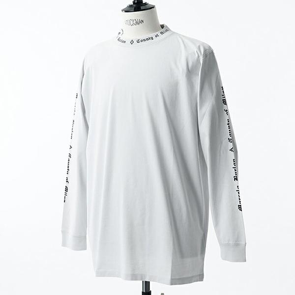 MARCELO BURLON マルセロバーロン CMAB007E18001005 クルーネック 長袖Tシャツ リブ カットソー カラー0610/LIGHTGREY メンズ