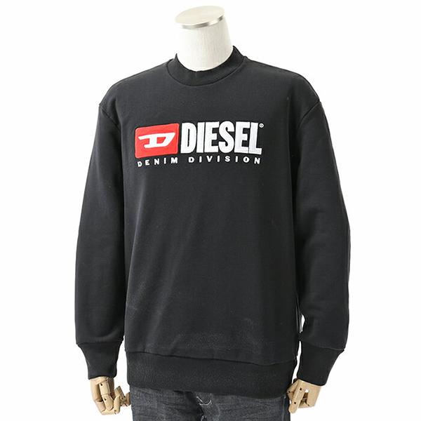 DIESEL ディーゼル 00SHEP 0CATK S-CREW-DIVISION FELPA スウェット トレーナー 裏起毛 ロゴ刺繍パッチ 900 メンズ