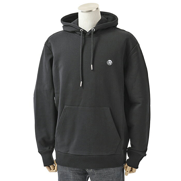 DIESEL ディーゼル 00SHEF 0NAUW S-AFTER スウェット プルオーバー パーカー 裏起毛 ブレイブマンパッチ カラー900/ブラック メンズ