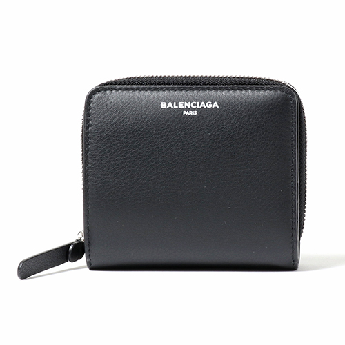BALENCIAGA バレンシアガ 516366 DLQ0N レザー 二つ折り財布 ミニ財布 豆財布 カラー1000/NOIR レディース