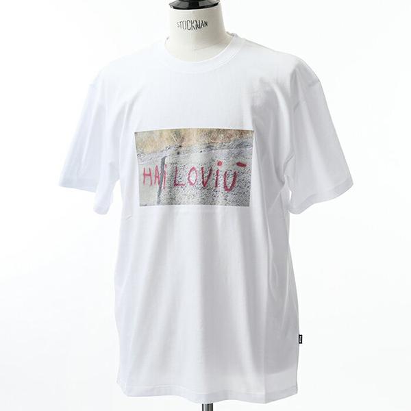 MSGM エムエスジーエム 2540 MM168 クルーネック 半袖 Tシャツ カットソー プリント 丸首 カラー01/ホワイト メンズ
