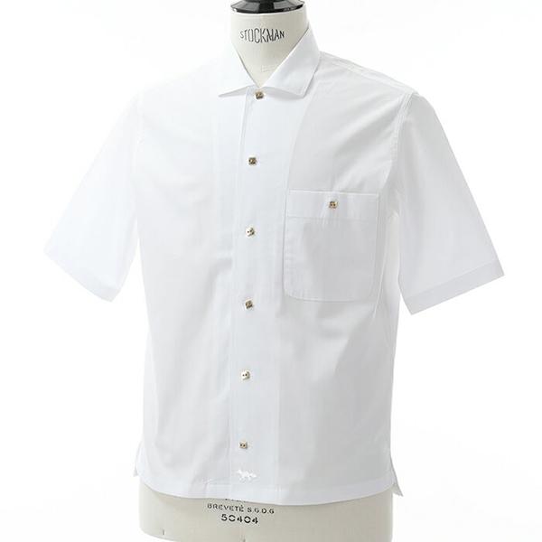 MAISON KITSUNE メゾンキツネ BM00401AT 1001 半袖シャツ カジュアルシャツ カラーWHITE メンズ